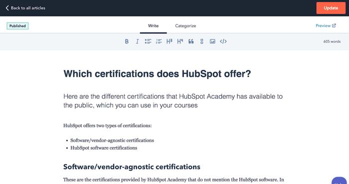 HubSpot Service Hub tools