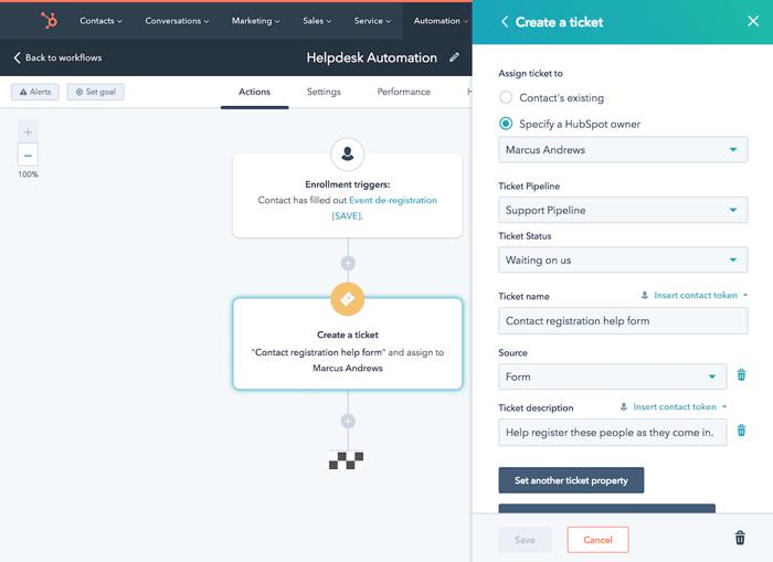 HubSpot Service Hub automatisering