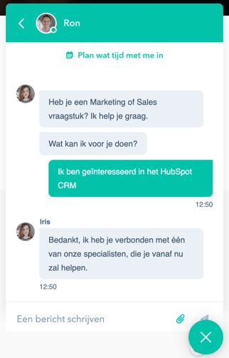 chatbot conversatie