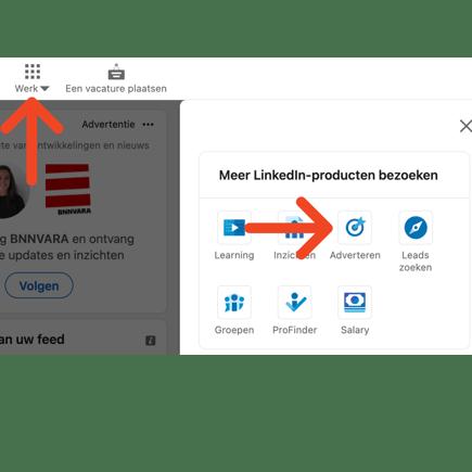 Screenshots LinkedIn Ad gebruiker toevoegen
