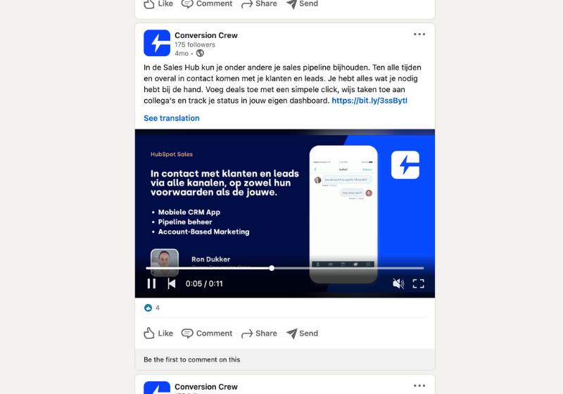 Videomarketing LinkedIn Conversion Crew