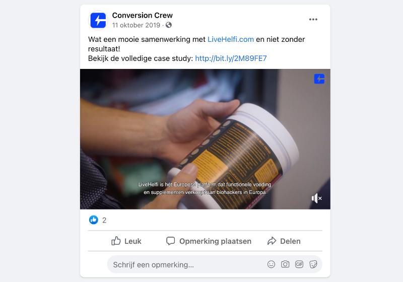 Videomarketing facebook conversion crew