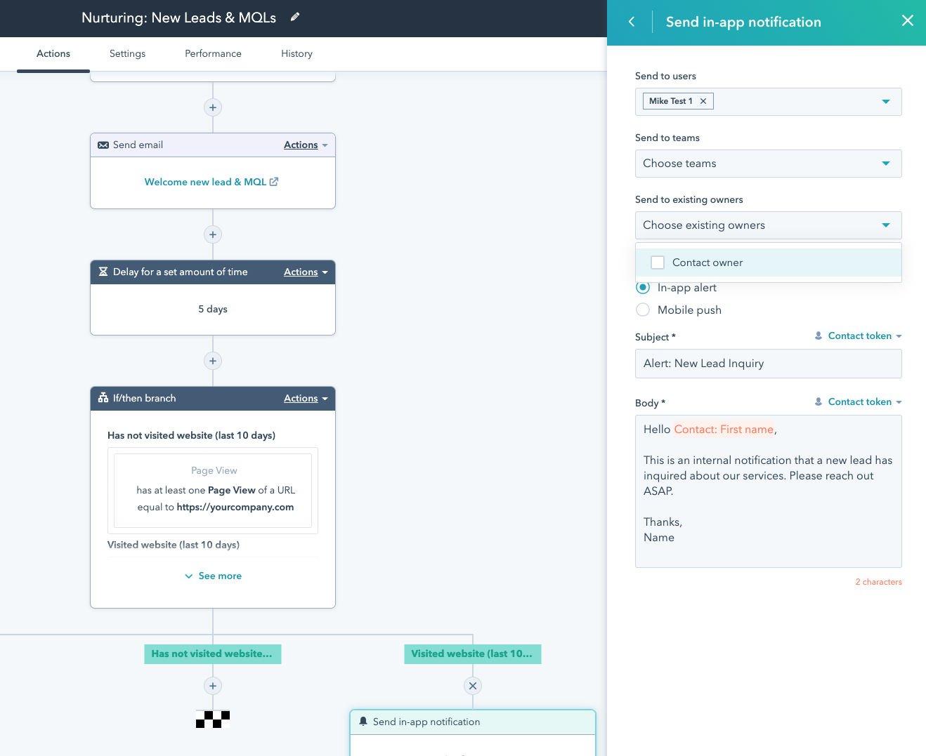 hubspot-marketing-automation-voorbeeld