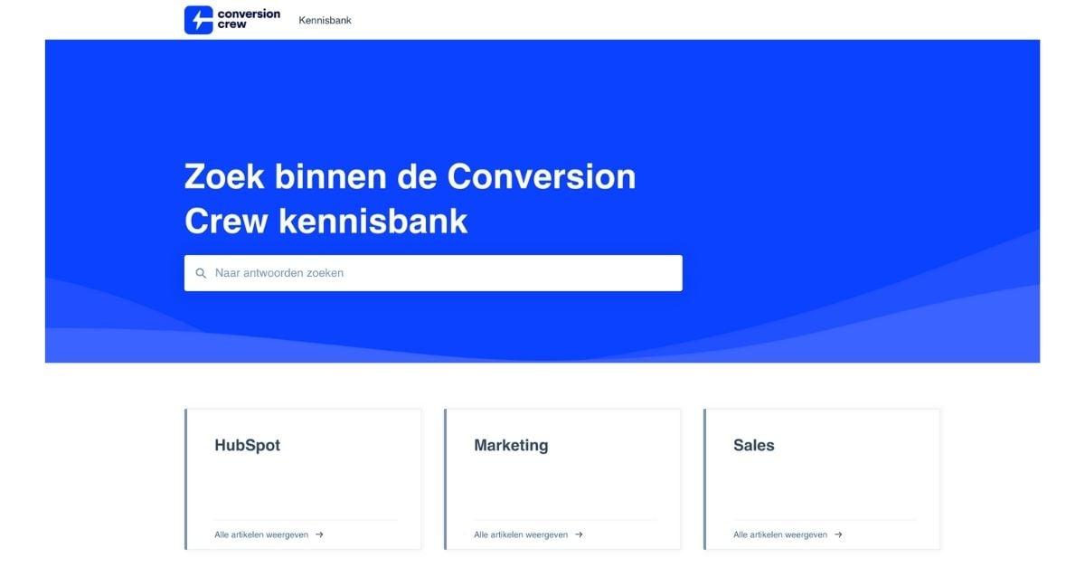 kennisbank conversion crew