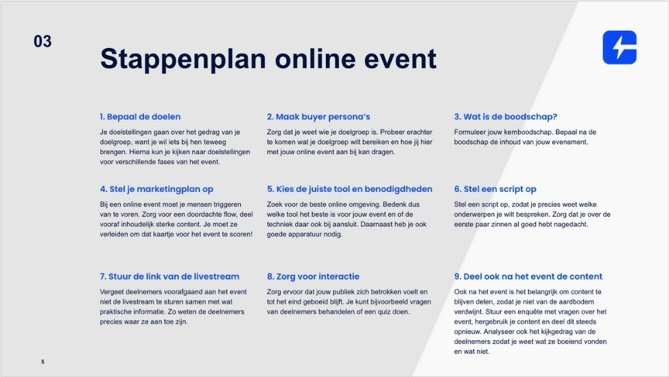 stappenplan-online-event