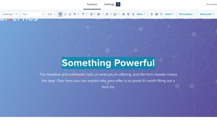 HubSpot Marketing websites